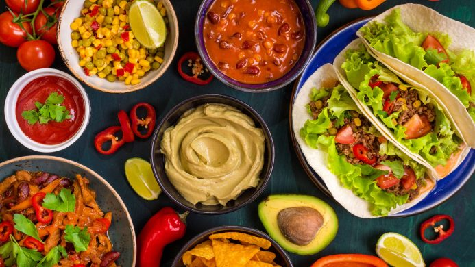 Cuisine Tex-Mex typique en Amérique du Nord