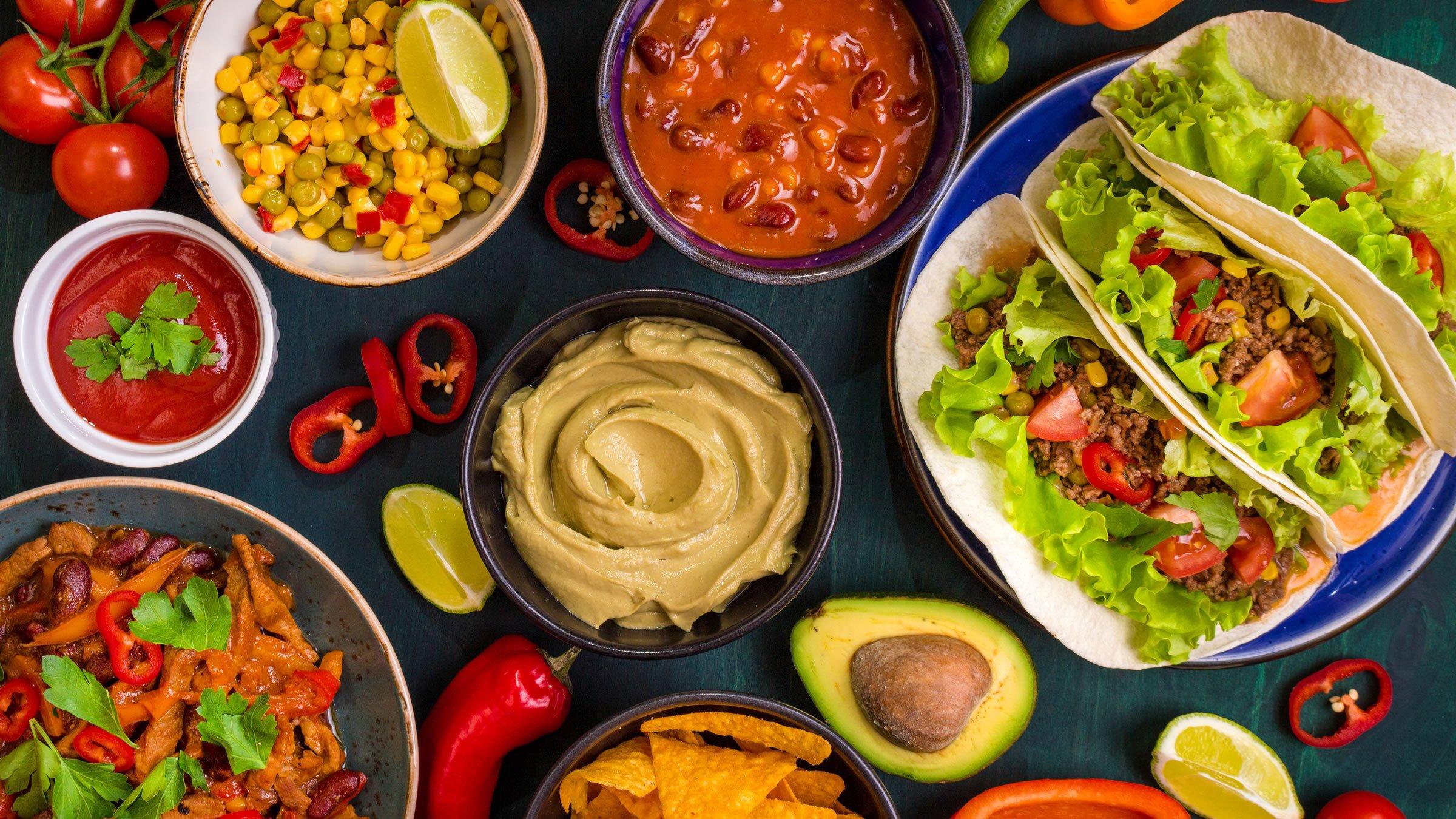Comidas e ingredientes típicos de los países de América