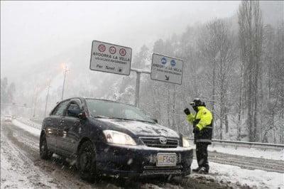 Control de Carretera en Andorra