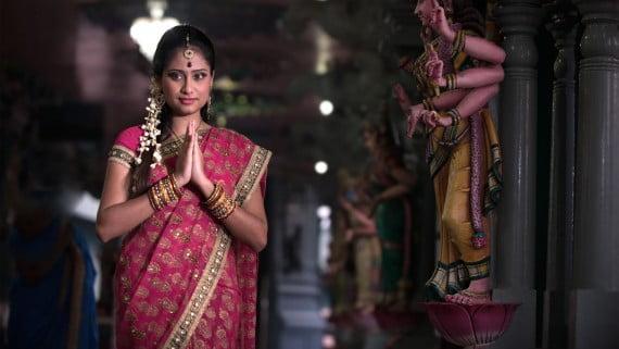 O sari, a prenda máis coñecida da India