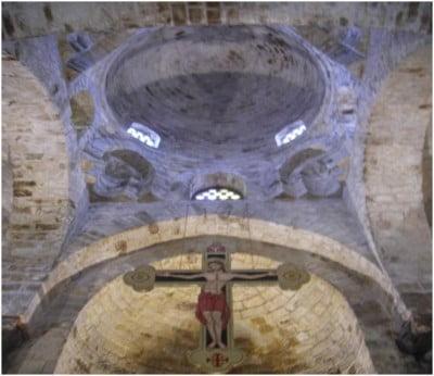 Cruz del altar de la Iglesia de San Cataldo en Palermo