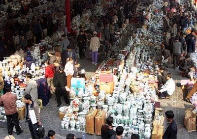 de compras en París mercado de pulgas