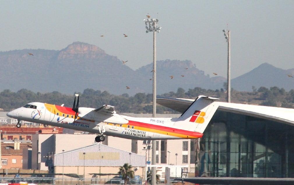 Despegue en el Aeropuerto de Valencia