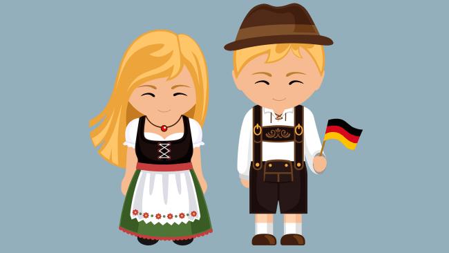 Dibujo de la vestimenta típica de Alemania
