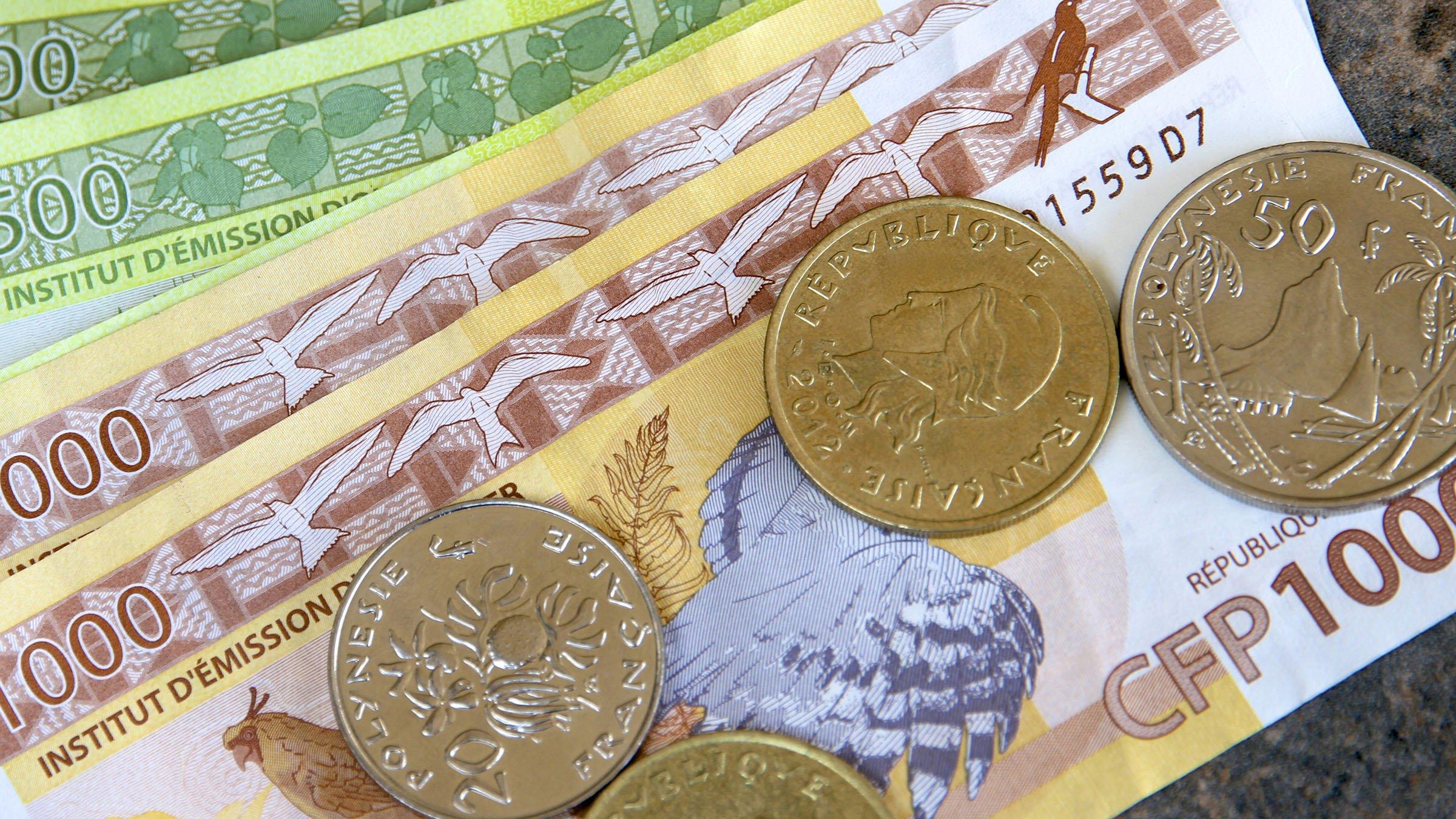 Diseños de las monedas del franco polinesio