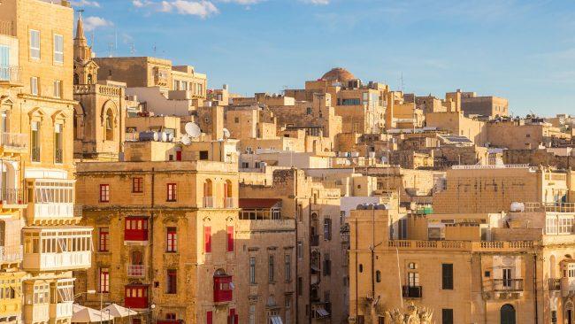 Edificios característicos de La Valeta, Malta