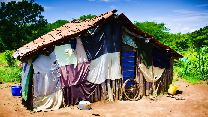 Ejemplo de vivienda rural en Nicaragua, Centroamérica