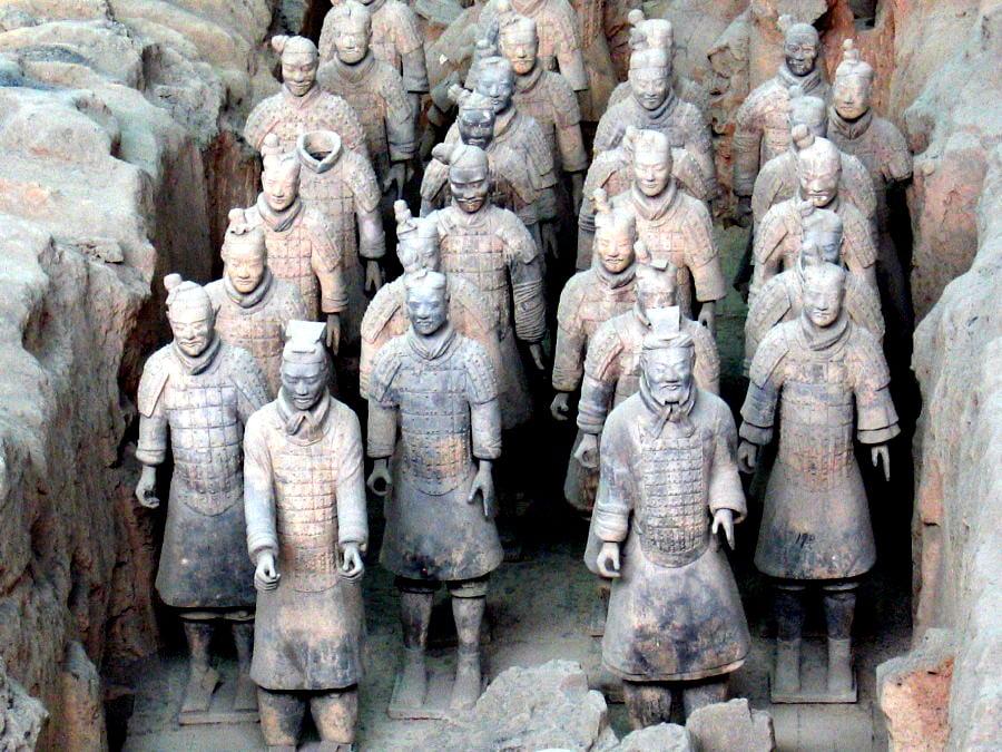 Ejército de terracota en China