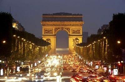 el arco del triunfo de paris