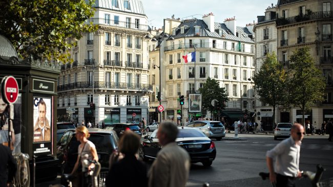 Boulevard Saint Germain in Paris