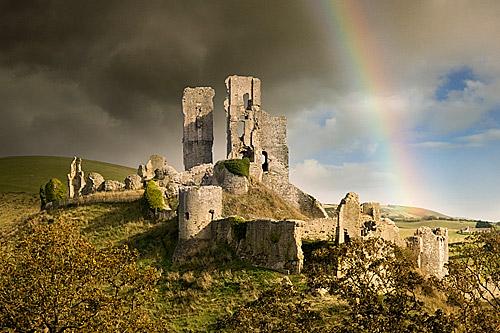 El Castillo de Corfe, Inglaterra