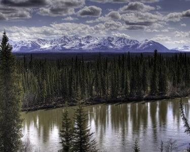 El clima es intenso en Alaska.