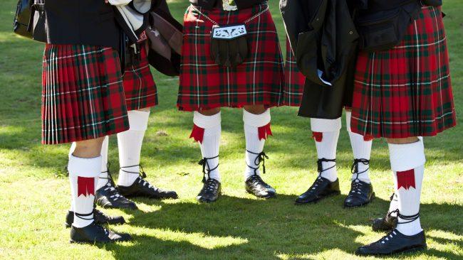 El famoso estampado tartán del kilt escocés