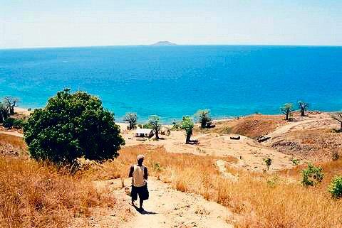El islote de Mulange en el Horizonte de Malawi