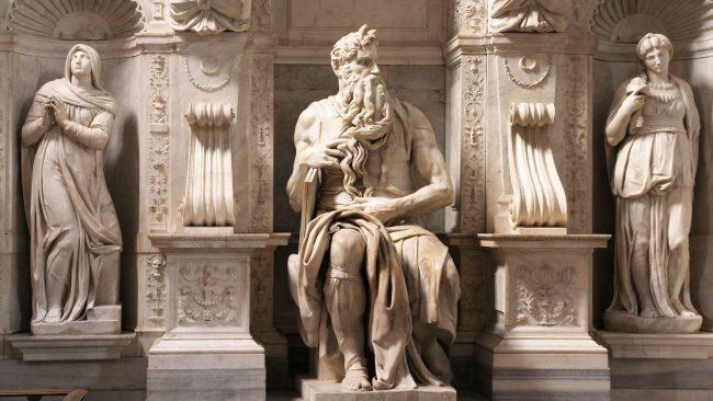 El Moisés de Miguel Ángel, en la Basílica de San Pedro in Vincoli, Roma