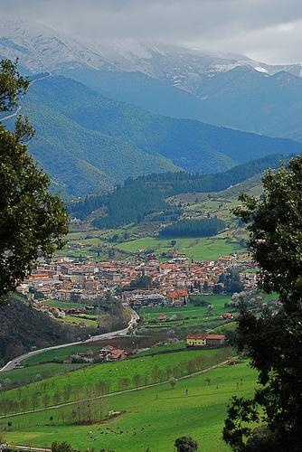 El pueblo de Potes, Cantabria