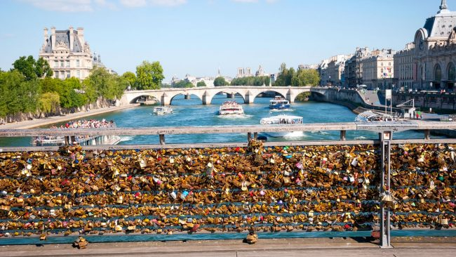 Die Brücke der Künste in Paris