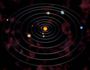 El sistema solar en un planetario