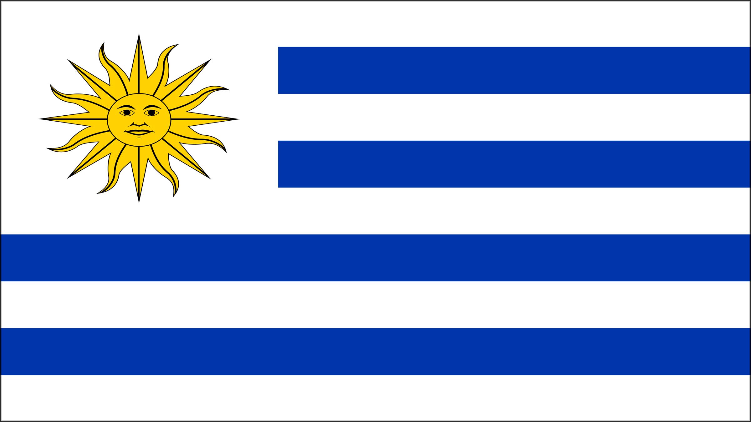 Resultado de imagen para bandera de uruguay