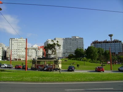 El tranvía de A Coruña