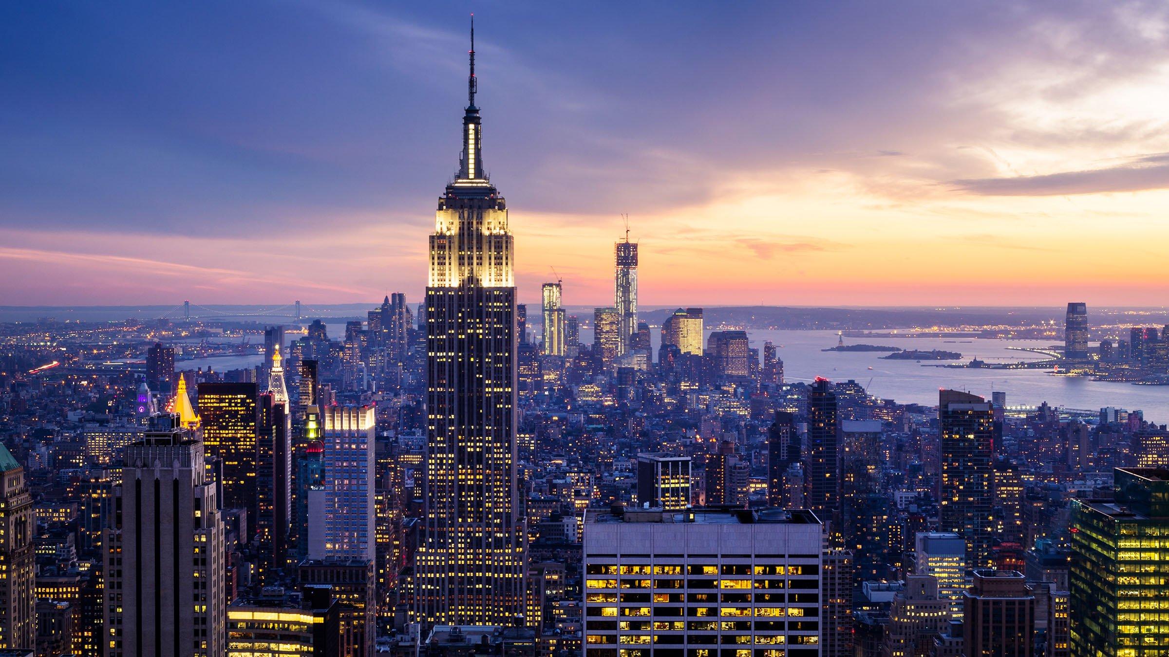 El Empire State de noche