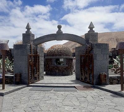 Entrada al Jardín de Cactus de Lanzarote