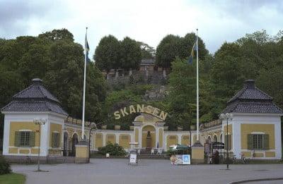 Entrada al parque Skansen