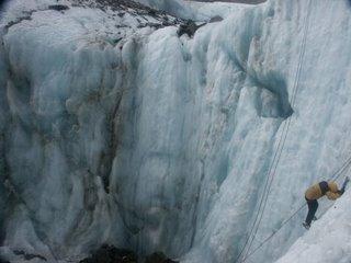 Escalando un Glaciar