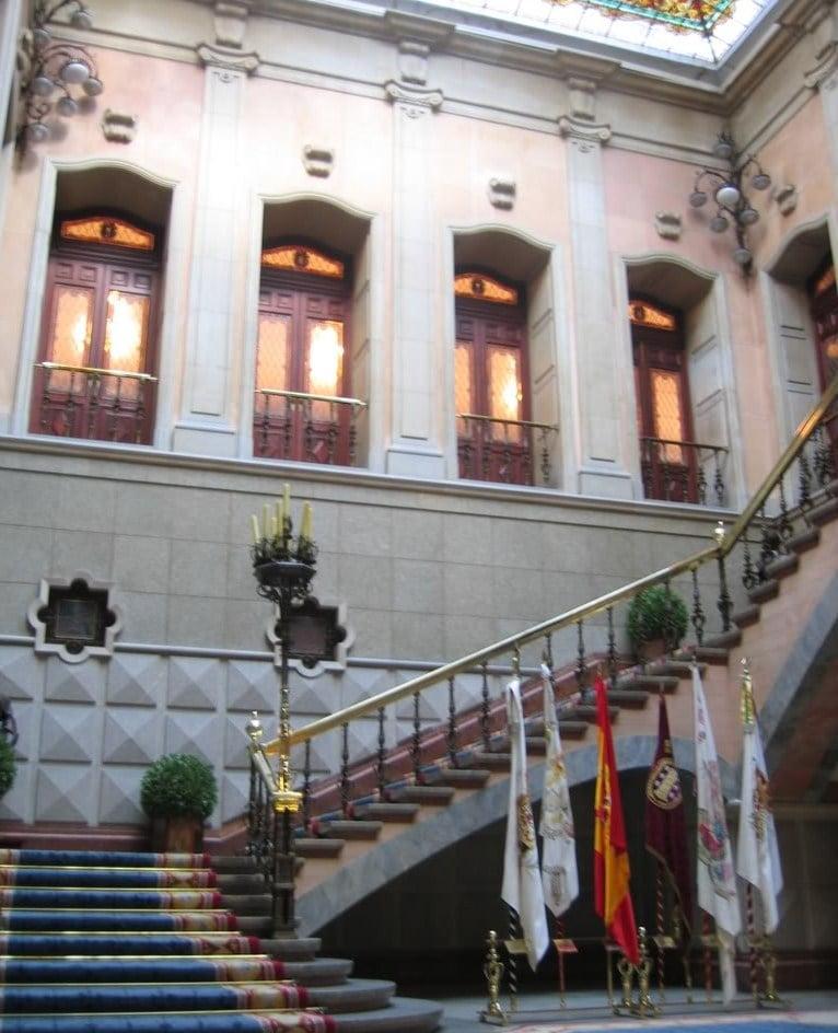 Escalera del Ayuntamiento de A Coruña