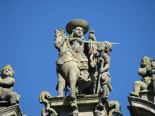 Escultura de San Martín de Tours