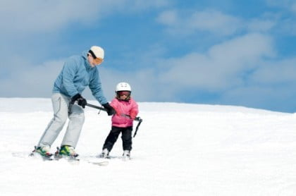 esquiar en familia