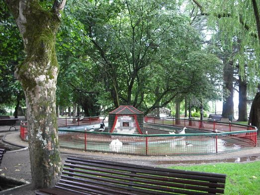 Estanque, Parque Rosalía de Castro