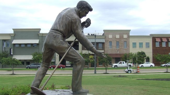 Estatua de Elvis Presley en Tupelo, Mississippi