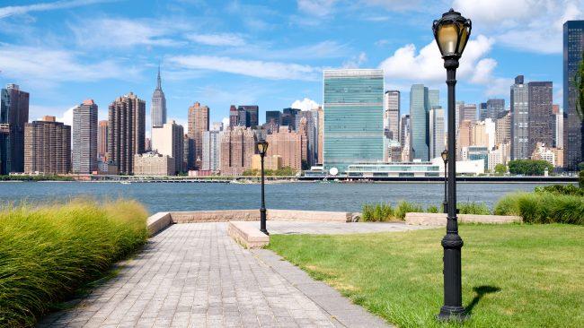Fabulosas vistas desde un parque de Queens