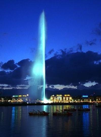 Fotos de la Famosa fuente de Ginebra, suiza