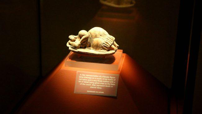 Figura de la Venus de Malta en el Museo Arqueológico de La Valeta