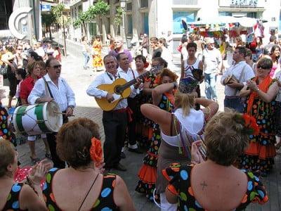 Flamenco en fiestas de Málaga