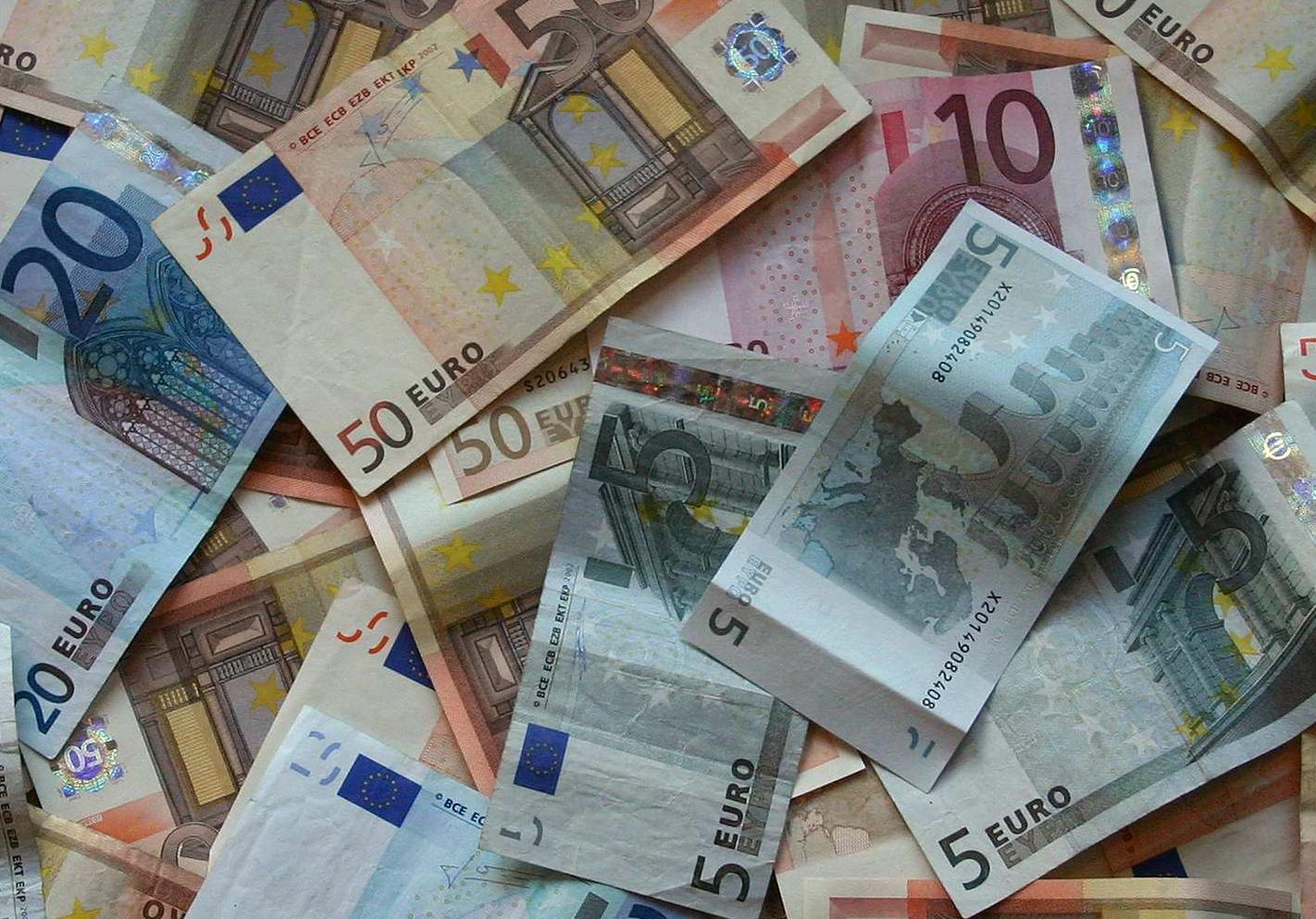 Foto de billetes de euros