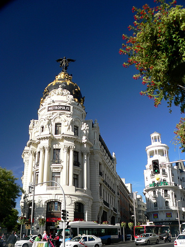 Fotos de la Gran Via, Madrid, España