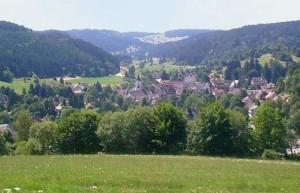 Foto de uno de los antiguos poblados en la Selva Negra de Stuttgart