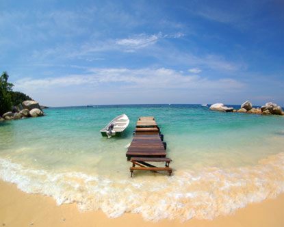Foto de las costas de Malaysia