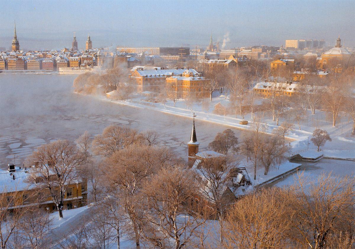 Foto del invierno en Estocolmo
