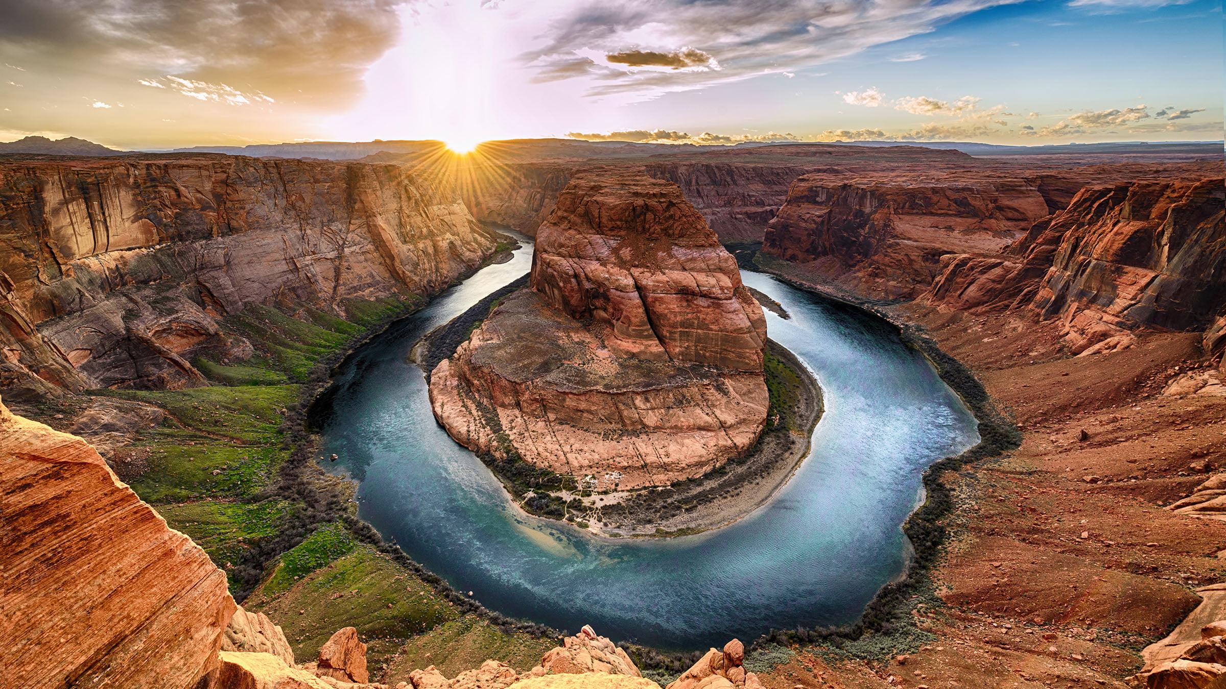Foto del Rio Colorado, El Gran Cañon de Colorado