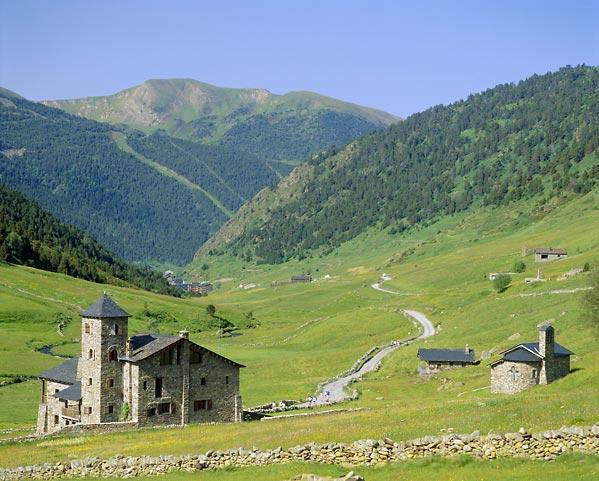 Foto de la campiña de Andorra