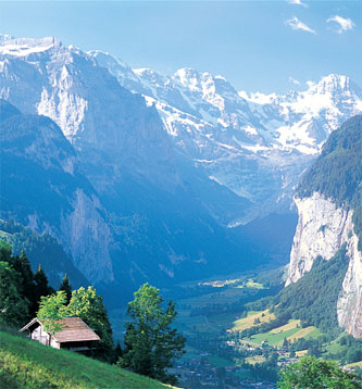 Fotos del Valle de Lauterbrunnen en Suiza, Europa