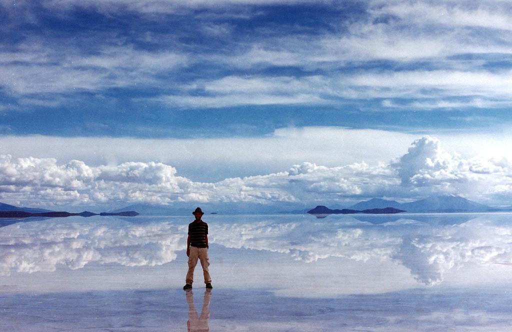 Foto en el Salar de Uyuni