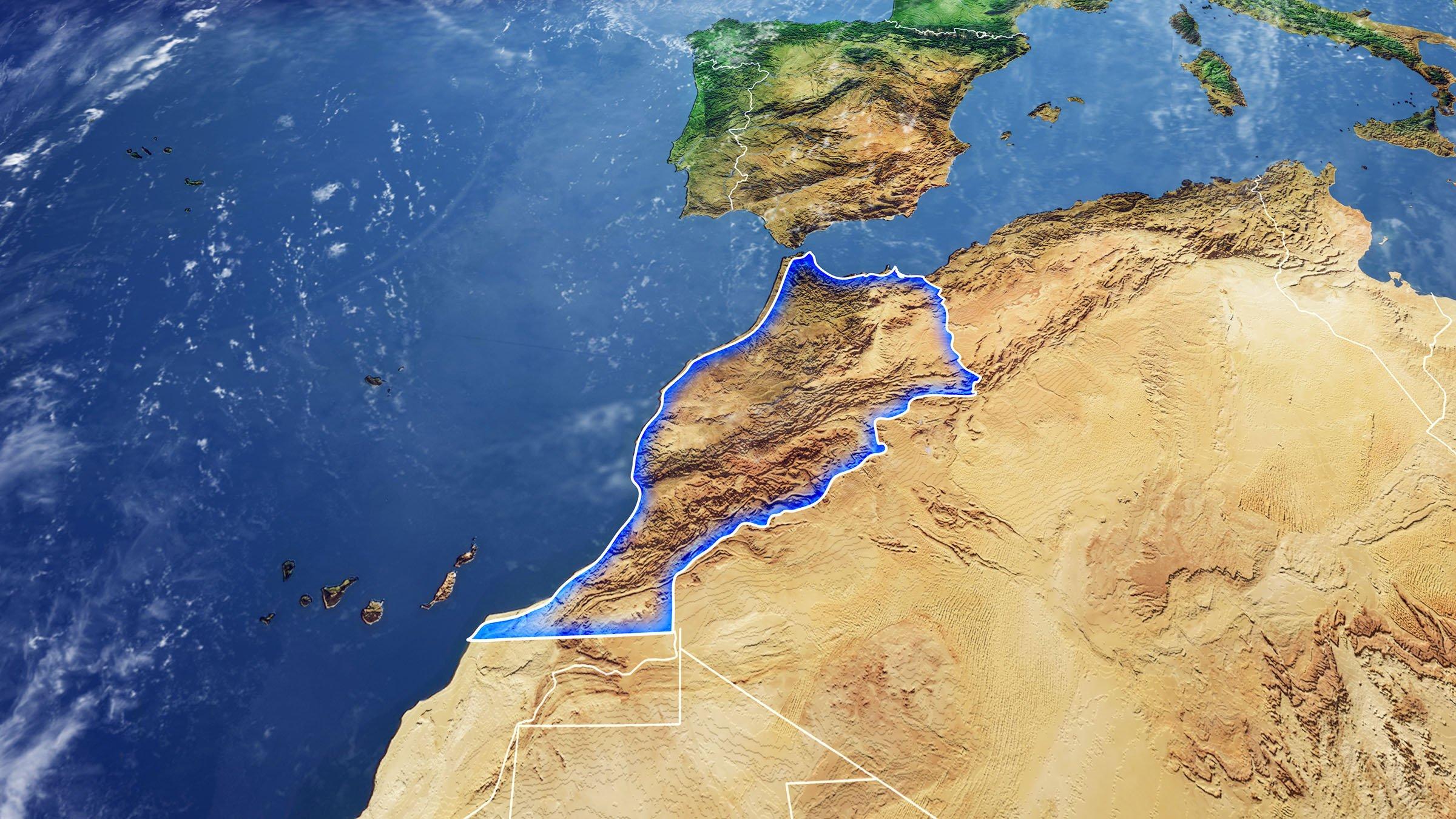 Foto satelital de Marruecos