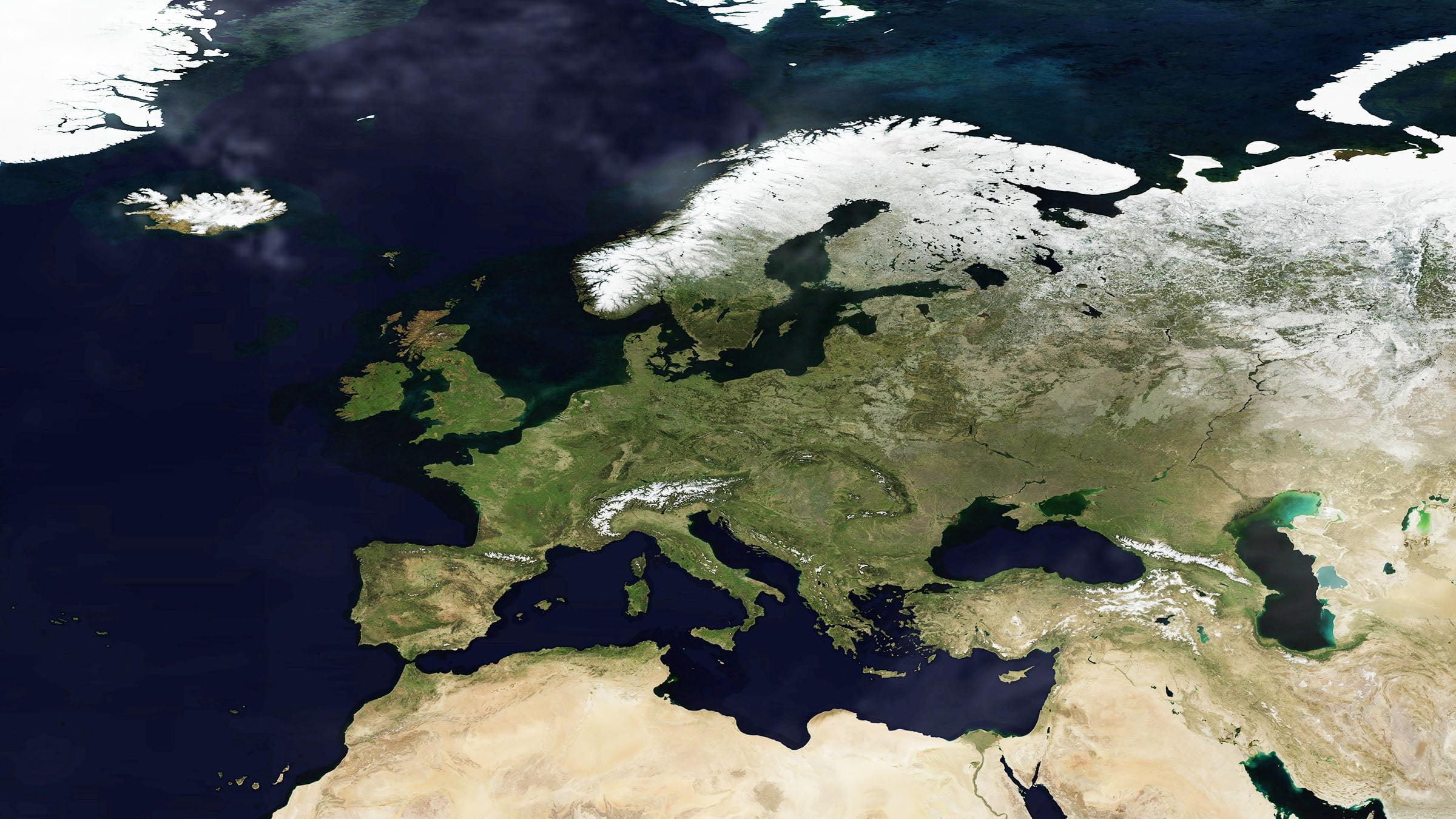 Foto satelital de Suecia