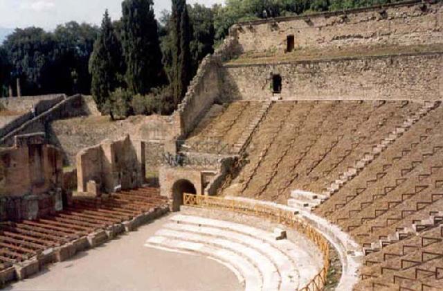 Fotografias del Graderia del Anfiteatro de Pompeya