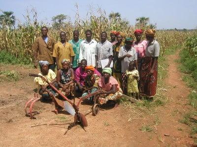 Fotos de Burkina Faso Grupo de agricultores de Tarfila.